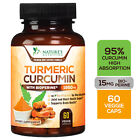 Turmeric Curcumin with Bioperine 1950mg High Absorption Triple Strength Capsules