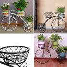 Outdoor Indoor Metal Bicycle Plant Stand Garden Planter to hold 3 pot plants
