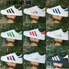 UK STOCK Mens Women LADY Leather Casual Lace Up Sneakers Trainer Shoes Superstar