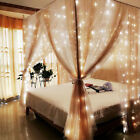 Warm White 304LED 3m Fairy Curtain String Lights Wedding Party Perfect Holiday