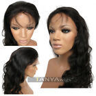Brazilian Natural Wave  Human Hair 360 Lace Front Full Lace Wigs With Baby Hair