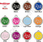 Red Dingo MUSIC Engraved Pet ID Tag / Charm - Stainless Steel & Enamel