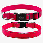 Soft Nylon Reflective Dog Collars Safety for Small Large Dogs Boxer Blue S M L