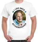 I Love David Attenborough T-Shirt Naturalist Environment Green Earth