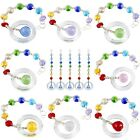 5Pcs Prism Crystal Rainbow Christmas Tree Ornament 7 Chakra Hanging Bauble Gift