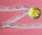 "White Scalloped Lace Trim 14-28 Yards Doll Lace 1/2"" D13AV Added Trims ShipFree"