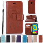 Leather Wallet Flip Book Stand View Case Cover for Alcatel U5 4G Mobile Phone