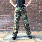 New Womens Green & Brown Camouflage Wide Loose Leg Combat Trousers Cargo Pants