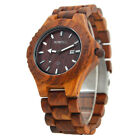Men's Wooden Watch RK-W023B Digital Wristwatch Time Display Case and Band