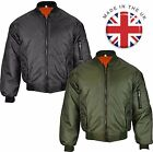 NEW MENS UK MADE MA1 ARMY MILITARY AIR FORCE PADDED DOORMAN ZIP UP BOMBER JACKET