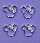 MINNIE MOUSE Shaped Metal Charms Pendant Party Bag filler jewellery choose no