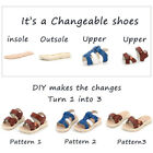 Patent Summer DIY Children's Shoes 3 IN 1 Kids Assembled Educational Sneakers