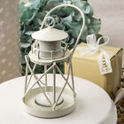 White Lighthouse Luminous Metal Lantern -Nautical Wedding Party Favor Qty 15-70