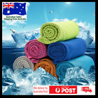 Instant Cooling Towel ICE Cold Golf Cycling Jog Gym Sport Outdoor Double Layers