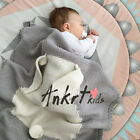 Rabbit Sofa Blanket Super Soft Warm Hand Crocheted Knitting Wool For Baby XN