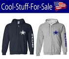 Dallas Cowboys Star Football Zip-Up Hooded Sweatshirt on eBay