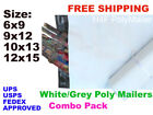 Lot Combo 100 Poly Mailers Shipping Envelopes Bags 25 each 6x9 9x12 10x13 12x15