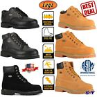 Steel Toe Work Boot Leather Boots Water Slip Resistant Waterproof Memory Foam