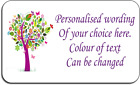 Purple Tree Personalised Labels with FREE protective wallet