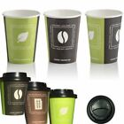Paper Cups and Lids for Hot Drinks 8oz x200
