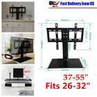 flat screen size - Adjustable Universal TV Stand Pedestal Base Wall Mount Flat Screen TV 2 Sizes UB