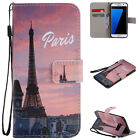 For Samsung J3 J5 J7 Prime Painted Magnetic Leather Wallet Stand Case Flip Cover