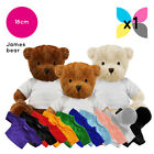 1 Blank James Teddy Bear Plain White T-Shirt Soft Toy for Sublimation Printable