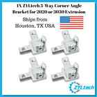 4X ZYLtech 3-Way L Type Corner Angle Bracket for 2020 or 3030 Aluminum Extrusion