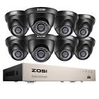 ZOSI 8CH 1080P HDMI DVR 720P HD Outdoor CCTV Home Security Camera System 1TB