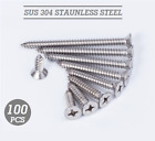 Stainless Steel 304 Self Tapping Screws Countersunk 10 14 20 25 30 35 40 60 80mm