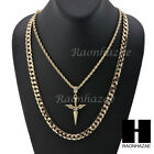 MENS ICED OUT ISSA NIFE PENDANT DIAMOND CUT 30* CUBAN CHAIN NECKLACE SET G28