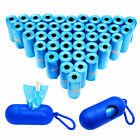 Blue Pet Dog Poop Bags with Waste Bag Holder Scoop Leash Dispenser 180/630 Bags