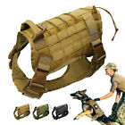 Military Tactical Training K9 Dog Harness Nylon Vest for Large Police Dogs Soft