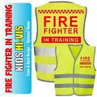 Fire Fighter Kids,Childs Hi-Vis Safety Vest Jacket High Visibility Viz