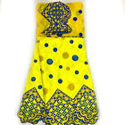 African fabric for african party dress in african bazin riche fabrc 5y & 2y lace