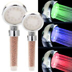 3 Color LED Bath Shower Head High Turbo Pressure Water Saving Laser Ionic Filter