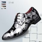Men's Formal Dress Oxfords Leather Shoes Pointed Toe Business Classic Wedding