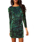 Womens Cocktail Party Sequins Bodycon Clubwear Mini Pencli Dress Size 6-16