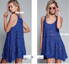 FREE PEOPLE  SMALL  Lace and Voile Trapeze Slip Dress Waterfall New Tags