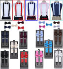 SUSPENDERS and BOW TIE COMBO SET-Tuxedo Classic Wedding Costume Tux Prom