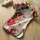 Chinese Style Cheongsam Girls Flower Butterfly Cloth Kids Qipao Dress Sleeveless