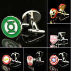 1 Pair Wedding Party Groom Shirt Square DC Marvel Super Hero CuffLinks Hot $1.79 USD on eBay