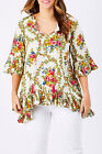 NEW Naudic Womens Tunics Hacienda Tunic Natural
