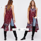 FREE PEOPLE  LARGE  Come See Me Now Vest Top Dress New Tags