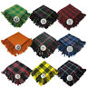 More images of Brand New Mens Kilt Fly Plaid With Thistle Brooch in Different Tartans Colours