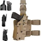 Tactical Holster Leg Airsoft Gear Tan Black Drop Leg Thigh Platform Gun Holsters