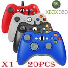 (QTY 1-20) USB Wired Game Remote Controller for Microsoft Xbox 360 PC Windows EO