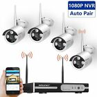 4CH 1080P NVR HD Wireless 720P IP Camera Outdoor WiFi Home Security System 0/1TB