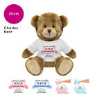 Personalised Name Charles Teddy Bear Christening Gift Gifts New Baby Boy Girl