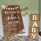 Personalised Baby Shower Sign -3 SIZE/ 3 MATERIAL OPT.